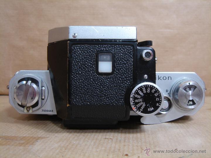 Cámara de fotos: CUERPO NIKON F FTN - 35 MM SLR CON PHOTOMIC T - AÑO 1970 - ¡¡¡ FUNCIONANDO ¡¡¡ - Foto 6 - 46418503