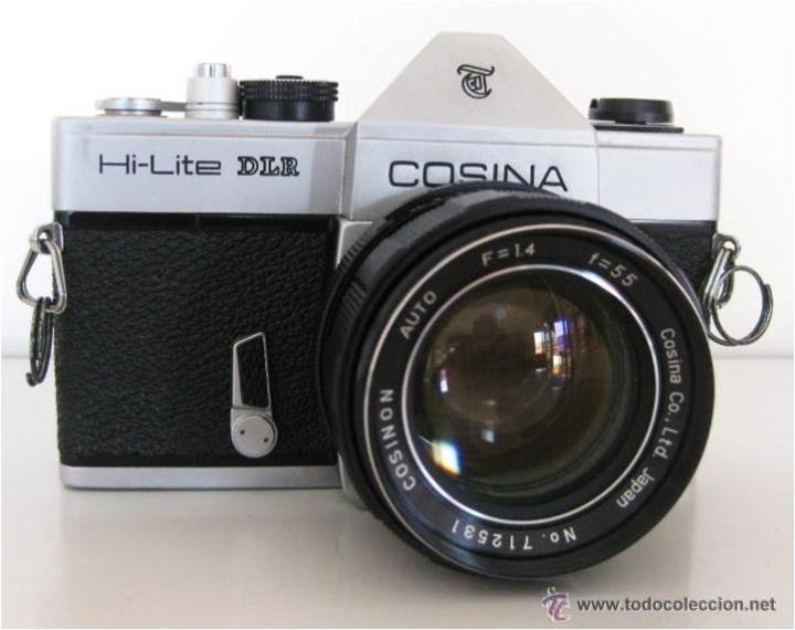 CÁMARA COSINA REFLEX, MOD. HI-LITE DLR, MADE IN JAPAN, CON ESTUCHE ORIGINAL, FUNCIONANDO, IMPECABLE (Cámaras Fotográficas - Réflex (no autofoco))