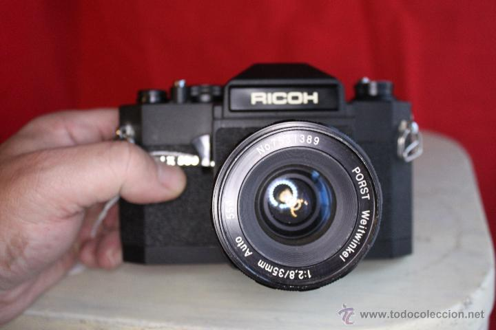 RICOH SLX 500 + PORST 35MM 1:2,8 + FUNDA DE CUERO (Cámaras Fotográficas - Réflex (no autofoco))