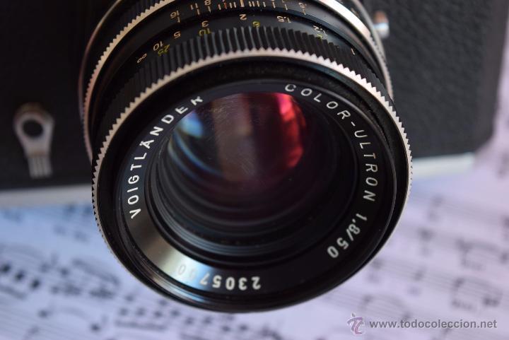 Cámara de fotos: CLASICA VOIGTLANDER VSL1 CHROM MT.SOLO 500 FABRICADAS. - Foto 2 - 49070538