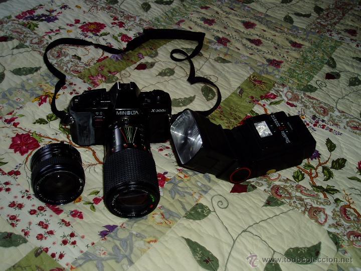 Cámara de fotos: Cámara Minolta X-300 S ( analógica ) con dos objetivos y flash - Foto 2 - 49561816