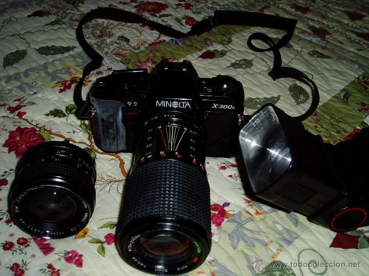Cámara de fotos: Cámara Minolta X-300 S ( analógica ) con dos objetivos y flash - Foto 3 - 49561816