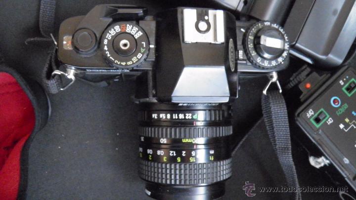 Cámara de fotos: RICOH.JAPONESA,OBJETIVO,FILTRO,DOS FLASH,BOLSA,FILM 24 EXP.VER IMAGENES Y DETALLES EN IMAGENES - Foto 6 - 50071521
