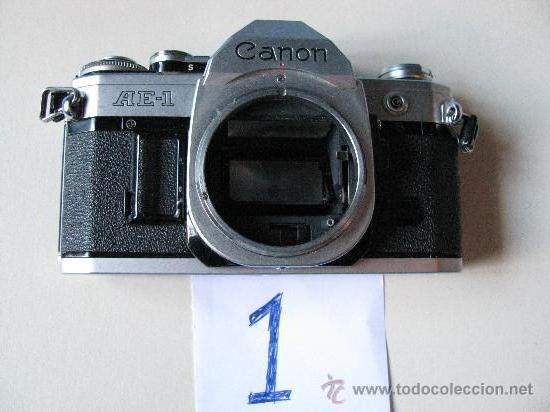 LOTE DOS CUERPOS CANON AE 1 (Cámaras Fotográficas - Réflex (no autofoco))