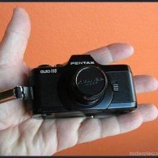 Cámara de fotos: MINI CAMARA REFLEX PENTAX AUTO 110....CON TRES OBJETIVOS 18MM,24MM,50MM. Lote 54827315