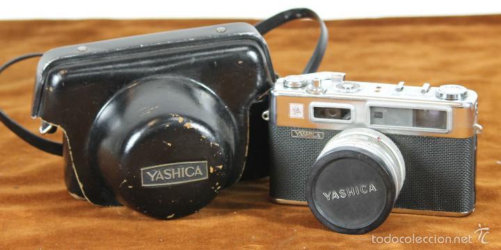 CAMARA FOTOGRAFICA. YASHIKA ELECTRO 35. FUNDA ORIGINAL. 1966. (Cámaras Fotográficas - Réflex (no autofoco))