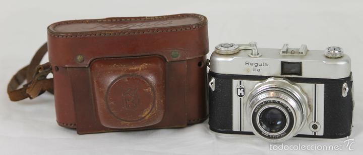 CAMARA FOTOGRAFICA. REGULA MODELO IIIA. FUNDA ORIGINAL. CIRCA 1950. (Cámaras Fotográficas - Réflex (no autofoco))