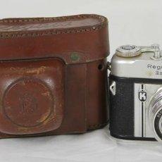 Cámara de fotos: CAMARA FOTOGRAFICA. REGULA MODELO IIIA. FUNDA ORIGINAL. CIRCA 1950. . Lote 57431498