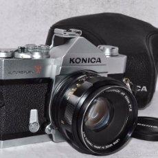 Cámara de fotos: EXCELENTE REFLEX MANUAL..JAPON 1968..KONICA AUTOREFLEX T+HEXANON 1,8/52+..MUY BUEN ESTADO..FUNCIONA. Lote 57735870