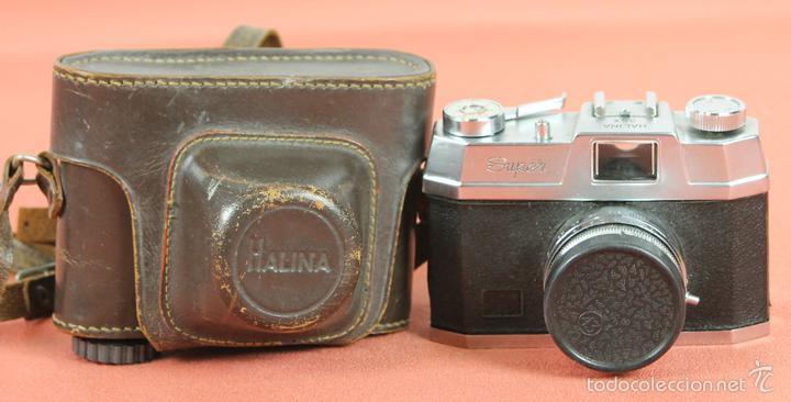 CAMARA FOTOGRAFICA. HALINA. MODELO SUPER. 35 MM. FUNDA ORIGINAL. HONG KONG. 1963. (Cámaras Fotográficas - Réflex (no autofoco))