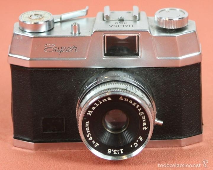 Cámara de fotos: CAMARA FOTOGRAFICA. HALINA. MODELO SUPER. 35 MM. FUNDA ORIGINAL. HONG KONG. 1963. - Foto 2 - 57864141