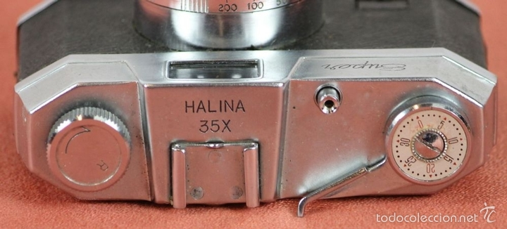 Cámara de fotos: CAMARA FOTOGRAFICA. HALINA. MODELO SUPER. 35 MM. FUNDA ORIGINAL. HONG KONG. 1963. - Foto 4 - 57864141