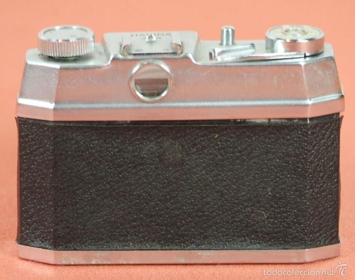 Cámara de fotos: CAMARA FOTOGRAFICA. HALINA. MODELO SUPER. 35 MM. FUNDA ORIGINAL. HONG KONG. 1963. - Foto 6 - 57864141