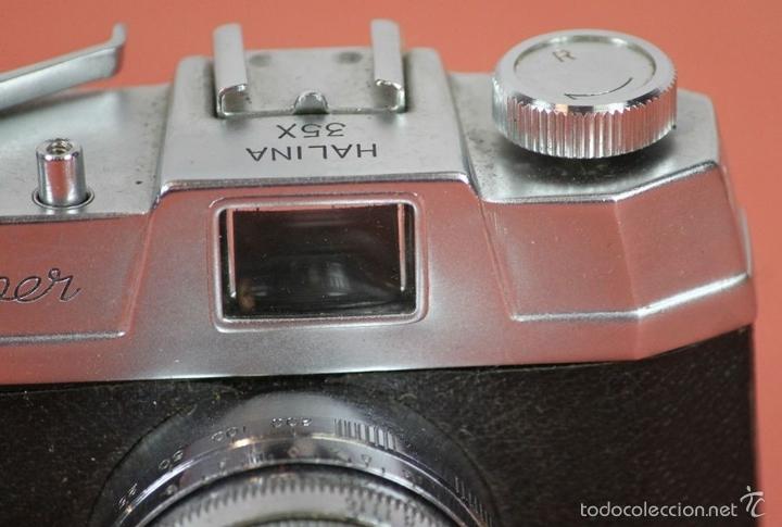 Cámara de fotos: CAMARA FOTOGRAFICA. HALINA. MODELO SUPER. 35 MM. FUNDA ORIGINAL. HONG KONG. 1963. - Foto 7 - 57864141