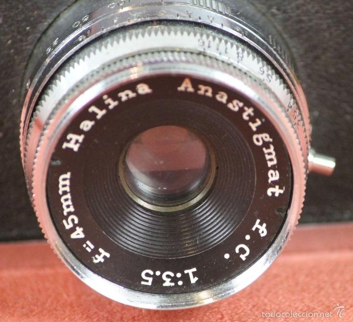 Cámara de fotos: CAMARA FOTOGRAFICA. HALINA. MODELO SUPER. 35 MM. FUNDA ORIGINAL. HONG KONG. 1963. - Foto 8 - 57864141