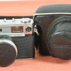 Cámara de fotos: CAMARA FOTOGRAFICA. YASHICA. MODELO MINISTER D. FUNDA OROGINAL. JAPON. 1963. . Lote 57864532