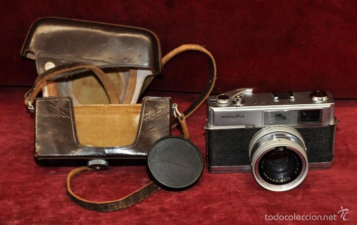 ANTIGUA CÁMARA FOTOGRÁFICA MINOLTA HI-MATIC 7 DE LOS AÑOS 60 (Cámaras Fotográficas - Réflex (no autofoco))