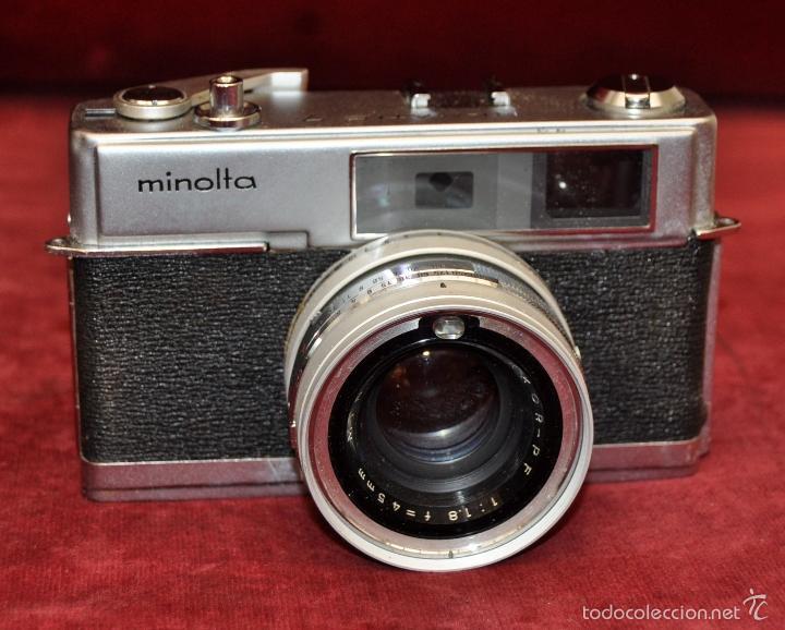 Cámara de fotos: ANTIGUA CÁMARA FOTOGRÁFICA MINOLTA HI-MATIC 7 DE LOS AÑOS 60 - Foto 4 - 57864853
