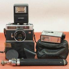 Cámara de fotos: CAMARA FOTOGRAFICA HANIMEX COMPACT R. 2 FLASHES Y TRIPODE. AÑOS 60. . Lote 117682946