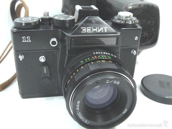 CAMARA FOTOS REFLEX 35 MM- ZENIT 11 ONCE + OBJETIVO 2/58 44MM - URSS 1950S - 35MM (Cámaras Fotográficas - Réflex (no autofoco))