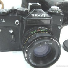 Cámara de fotos: CAMARA FOTOS REFLEX 35 MM- ZENIT 11 ONCE + OBJETIVO 2/58 44MM - URSS 1950S - 35MM. Lote 58659248