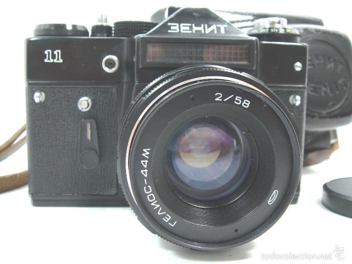 Cámara de fotos: CAMARA FOTOS REFLEX 35 MM- ZENIT 11 ONCE + OBJETIVO 2/58 44MM - URSS 1950S - 35MM - Foto 2 - 58659248