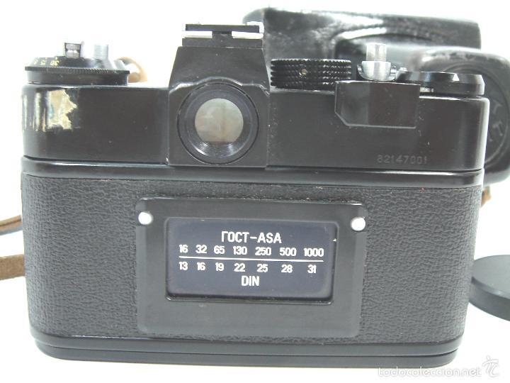 Cámara de fotos: CAMARA FOTOS REFLEX 35 MM- ZENIT 11 ONCE + OBJETIVO 2/58 44MM - URSS 1950S - 35MM - Foto 4 - 58659248