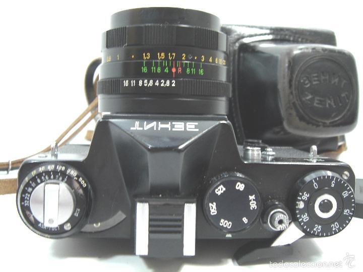 Cámara de fotos: CAMARA FOTOS REFLEX 35 MM- ZENIT 11 ONCE + OBJETIVO 2/58 44MM - URSS 1950S - 35MM - Foto 5 - 58659248