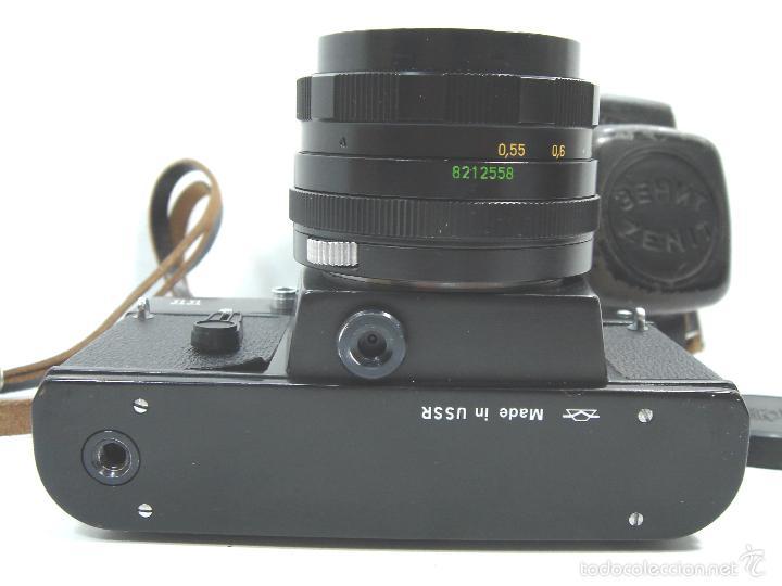 Cámara de fotos: CAMARA FOTOS REFLEX 35 MM- ZENIT 11 ONCE + OBJETIVO 2/58 44MM - URSS 1950S - 35MM - Foto 6 - 58659248