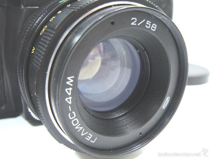 Cámara de fotos: CAMARA FOTOS REFLEX 35 MM- ZENIT 11 ONCE + OBJETIVO 2/58 44MM - URSS 1950S - 35MM - Foto 7 - 58659248