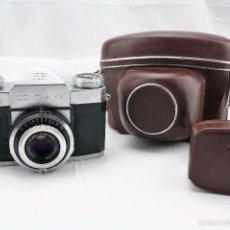Cámara de fotos: CAMARA ZEISS IKON CONTAFLEX CON FUNDA ORIGINAL DE CUERO + FOTOMETRO HORVEX 3. Lote 58668554