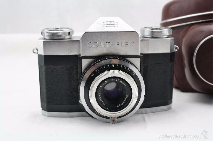Cámara de fotos: Camara Zeiss Ikon Contaflex con funda original de cuero + Fotometro Horvex 3 - Foto 2 - 58668554