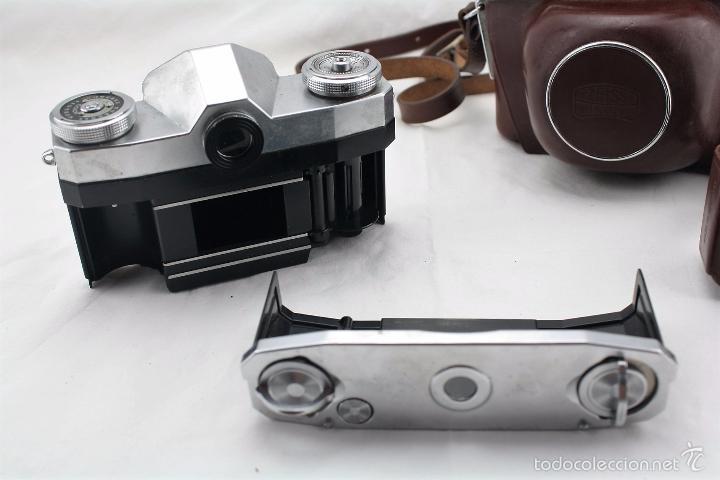 Cámara de fotos: Camara Zeiss Ikon Contaflex con funda original de cuero + Fotometro Horvex 3 - Foto 3 - 58668554