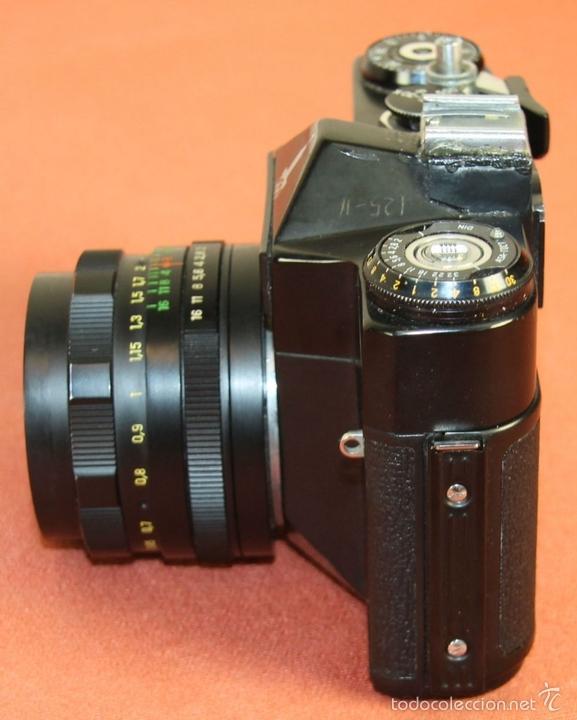 Cámara de fotos: CAMARA FOTOGRAFICA. MODELO EM. FUNDA EN CUERO. ZENIT. RUSIA. AÑO 1972/1984 - Foto 5 - 60427931