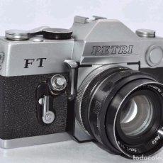 Cámara de fotos: CAMARA ANTIGUA REFLEX..KURIBAYASHI PETRI FT+PETRI 1,8/55,.JAPON 1967..BUEN ESTADO..-DEFECTO. Lote 63679447