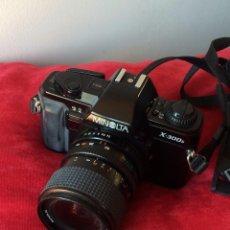 Cámara de fotos: CAMARA FOTOGRAFICA MINOLTA X-300S. CON OBJETIVO MINOLTA 28-70 MM Y FLASH. Lote 64987267
