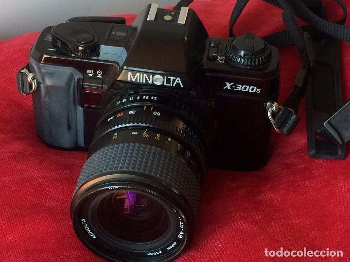 Cámara de fotos: CAMARA FOTOGRAFICA MINOLTA X-300s. CON OBJETIVO MINOLTA 28-70 MM Y FLASH - Foto 2 - 64987267