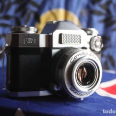 Cámara de fotos: ZEISS IKON CONTAFLEX SUPER + FUNDA DE CUERO + FILTRO. Lote 67029978