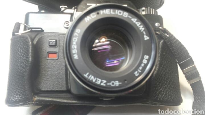 CÁMARA ANTIGUA REFLEX DE CARRETE CON OBJETIVO ZENIT 122 CON FUNDA Y CORREA ORIGINAL (Cámaras Fotográficas - Réflex (no autofoco))