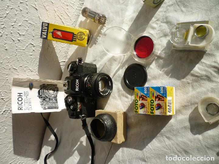 Cámara de fotos: CAMARA RICOH KR 5 SUPER REFLEX ANALÓGICA CON BOLSA 2 CARRETES DE 400 Y UN MONTÓN DE ACCESORIOS - Foto 4 - 73483787