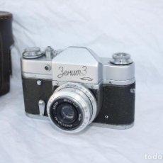 Cámara de fotos: EXCELENTE CÁMARA RÉFLEX DE COLECCIÓN - ZENIT 3 - AÑO 1961. Lote 79169849