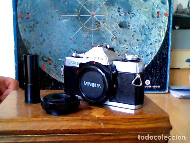 CAMARA FOTOGRAFICA REFLEX MINOLTA XG2 CON ADAPTADOR TELESCOPIO (Cámaras Fotográficas - Réflex (no autofoco))