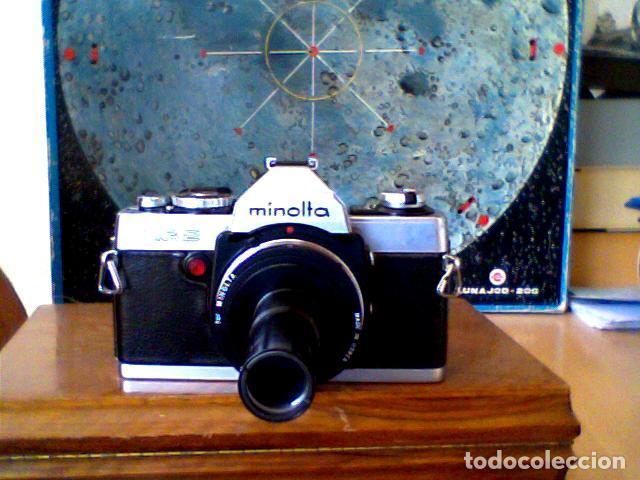 Cámara de fotos: CAMARA FOTOGRAFICA REFLEX MINOLTA XG2 CON ADAPTADOR TELESCOPIO - Foto 4 - 83578856