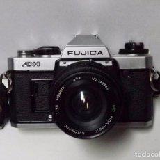 Cámara de fotos: FUJICA AX-1 CON OBJETIVO HAMINEX AUTOMATIC Y FUNDA ORIGINAL. Lote 83855596