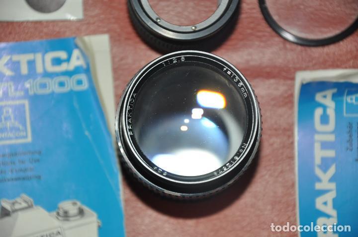 Cámara de fotos: CAMARA PRAKTICA SUPER TL 1000 , DOMIPLAN 2.8 / 50 , BOLSO , PRAKTICA 1 : 2.8 135 MM. ETC - Foto 7 - 85430756