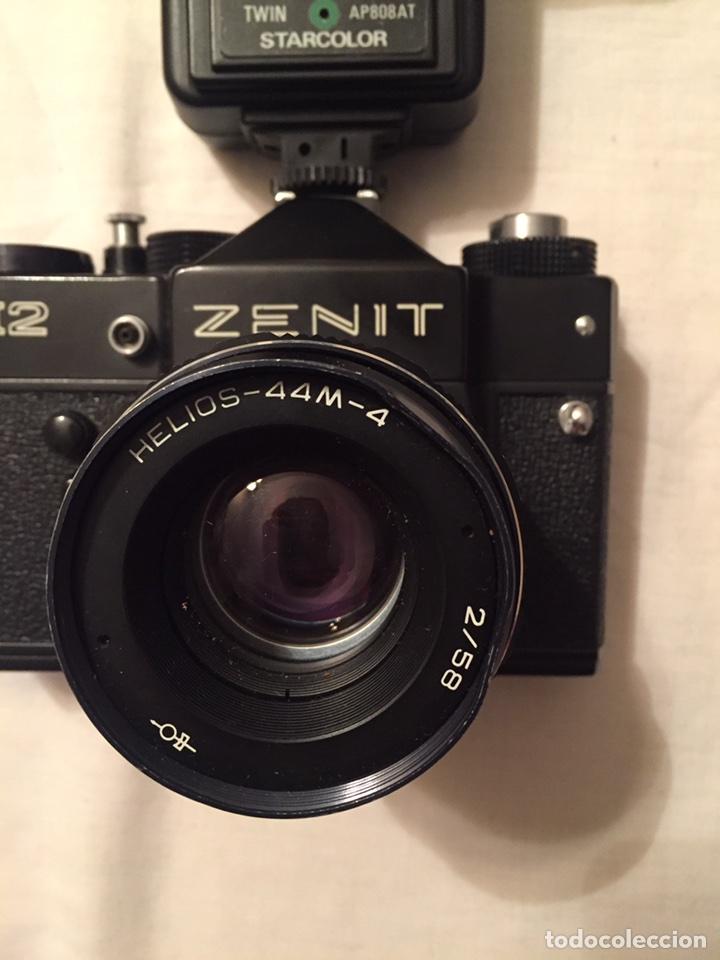 Cámara de fotos: Cámara Zenit 12. 1983. Con funda. Incluye flash starcolor - Foto 3 - 87412276