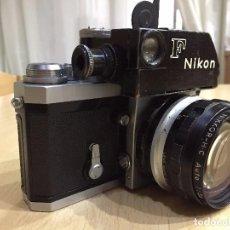 Cámara de fotos: NIKON F CON OBJETIVO NIKKOR SERIE H C 28MM F 3.5. Lote 91393305