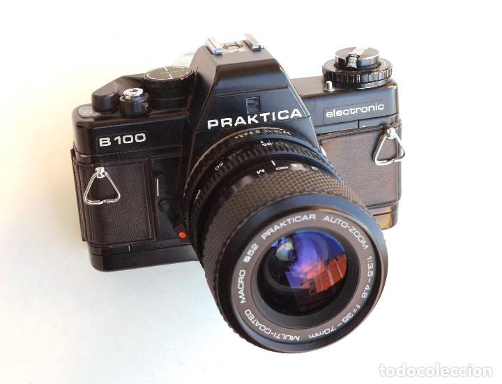 Cámara de fotos: *1983* • Pentacon Praktica B100 SLR Obj. f1.8 50mm + Obj. Macro-Zoom 35-70 mm • PROBADA / MALETÍN - Foto 3 - 95778055
