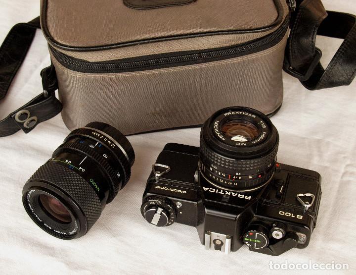 *1983* • PENTACON PRAKTICA B100 SLR OBJ. F1.8 50MM + OBJ. MACRO-ZOOM 35-70 MM • PROBADA / MALETÍN (Cámaras Fotográficas - Réflex (no autofoco))