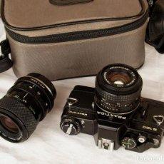 Cámara de fotos: *1983* • PENTACON PRAKTICA B100 SLR OBJ. F1.8 50MM + OBJ. MACRO-ZOOM 35-70 MM • PROBADA / MALETÍN. Lote 95778055